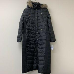 Micheal Kors Long Down Parka Coat Faux Fur NWT